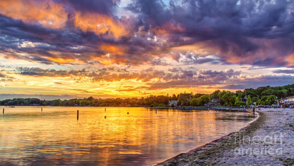 Wi Photograph - Pewaukee Orange Fury by Andrew Slater