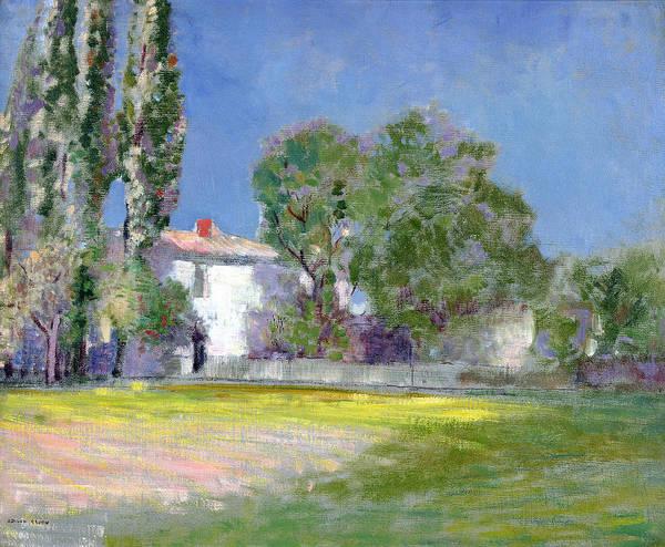 Poplar Painting - Peyrlebade by Odilon Redon