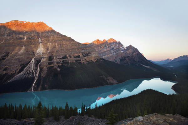 Peyto Lake Wall Art - Photograph - Peyto Lake A Glacial Lake In Banff by Benjamin Rondel / Design Pics