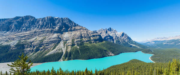Peyto Lake Wall Art - Photograph - Peyto Lake At Banff National Park by Panoramic Images