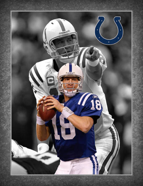 Colt Photograph - Peyton Manning Colts by Joe Hamilton