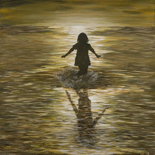 Painting - Phaedra's Splash by Davend Dominick