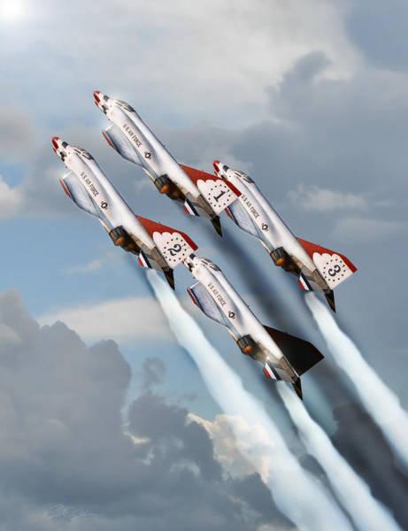 United States Air Force Digital Art - Phantom 4 Ship by Peter Chilelli