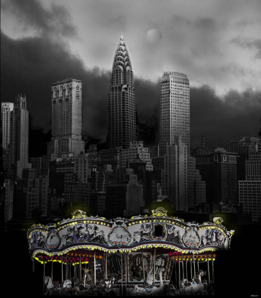 Carousel Digital Art - Phantom Carousel by Larry Butterworth