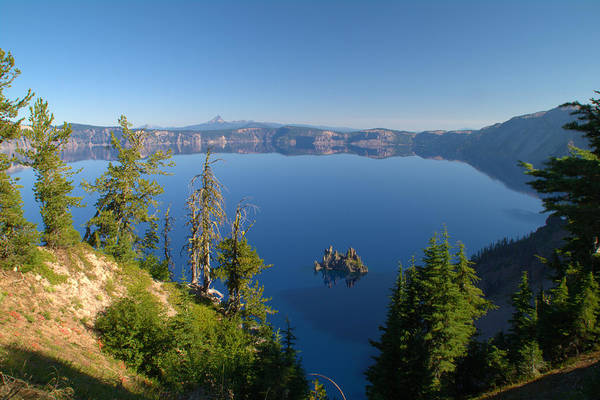 Clnp Wall Art - Photograph - Phantom Ship Island In Crater Lake by Brian Harig