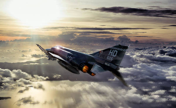 F-4 Wall Art - Digital Art - Phantom Sunrise by Peter Chilelli