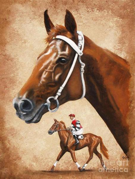 Wall Art - Painting - Phar Lap by Pat DeLong