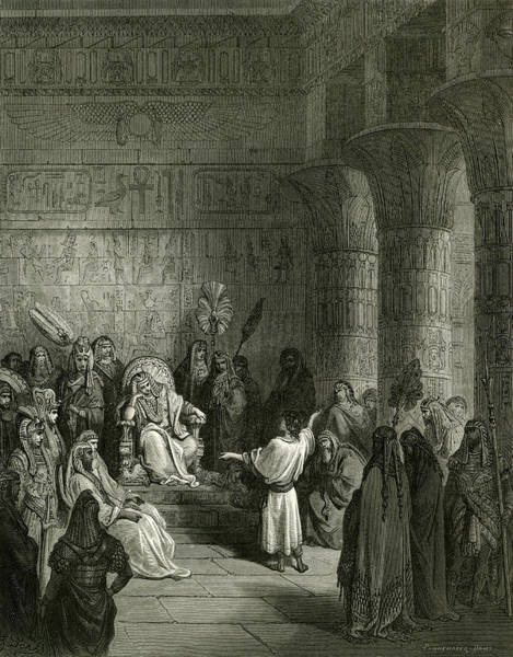 Interpret Drawing - Pharaoh's Dream Is Interpreted by Mary Evans Picture Library