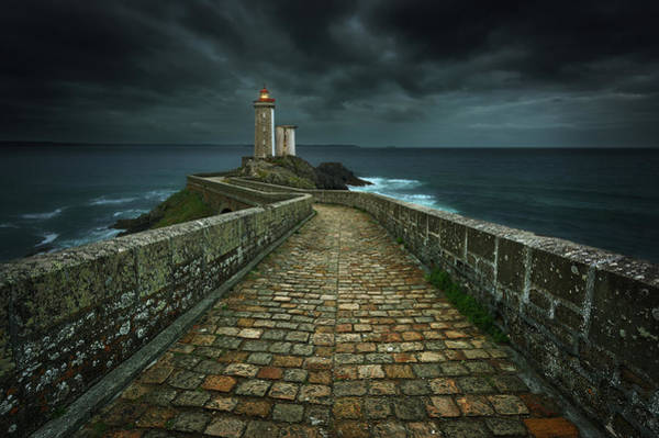 Water Tower Photograph - Phare... by Krzysztof Browko