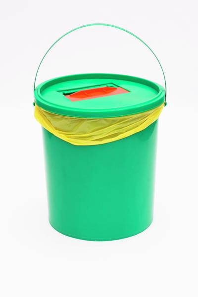 Bucket Photograph - Pharmaceutical Waste Bucket by Emmeline Watkins/science Photo Library