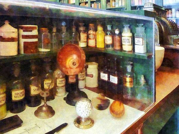 Photograph - Pharmacy - Behind The Counter At The Drugstore by Susan Savad