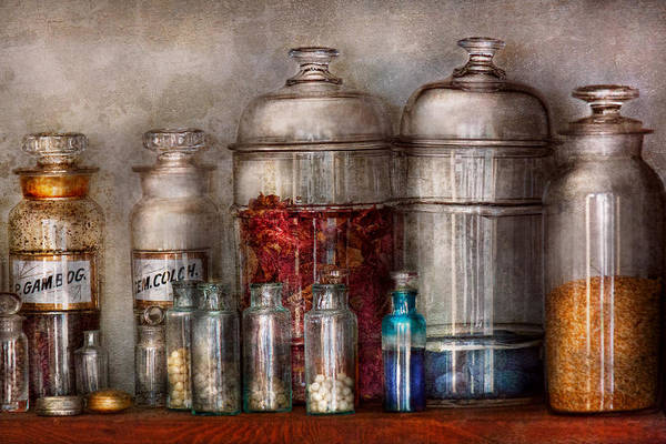 Photograph - Pharmacy - Mysterious Pebbles Powders And Liquids by Mike Savad