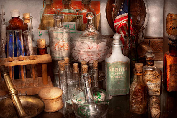 Wall Art - Photograph - Pharmacy - Pharmaceutical Science by Mike Savad