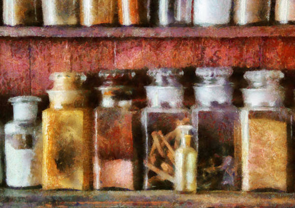 Ingredients Digital Art - Pharmacy - The Curious Doctor by Mike Savad