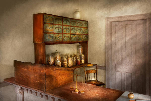 Wall Art - Photograph - Pharmacy - The Herbalist by Mike Savad