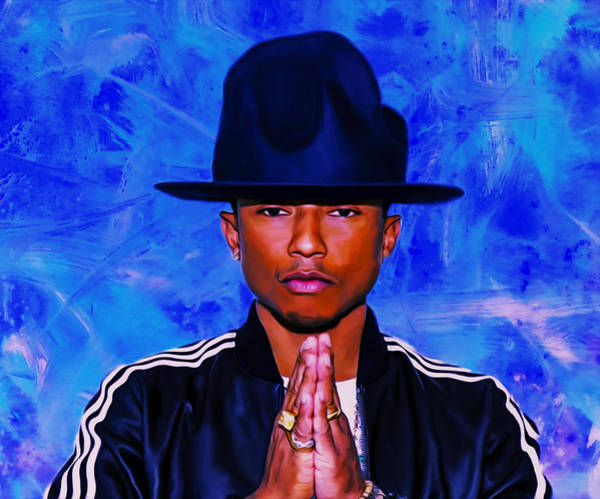Rhea Painting - Pharrell Williams Peace On Earth by Brian Reaves