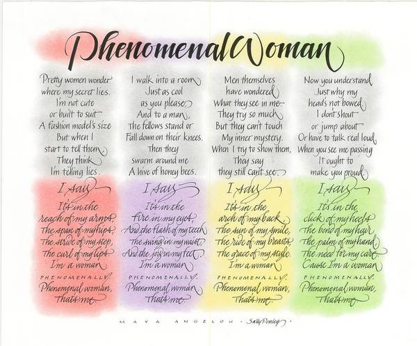 Drawing - Phenomenal Woman by Sally Penley