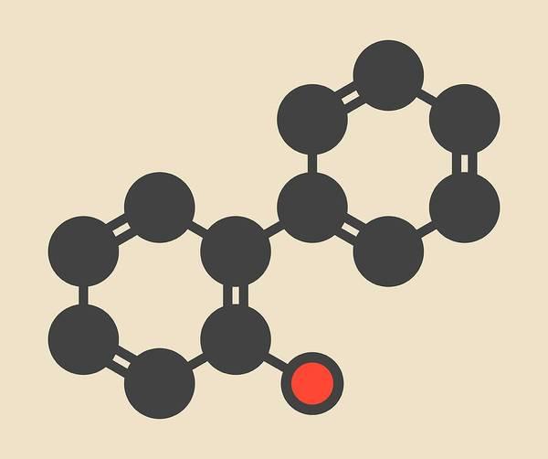 Preservative Wall Art - Photograph - Phenylphenol Preservative Molecule by Molekuul