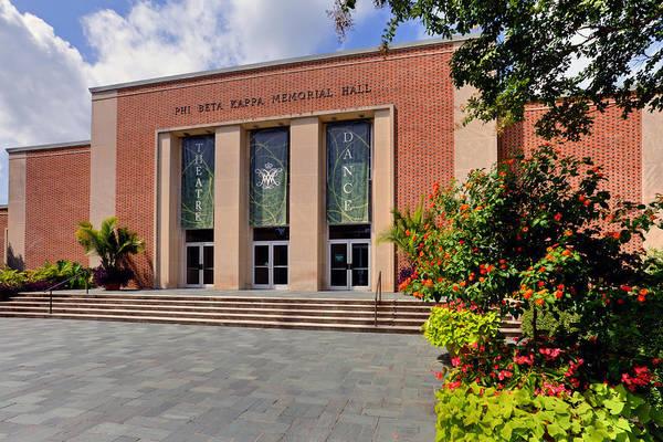 Photograph - Phi Beta Kappa Hall by Jerry Gammon