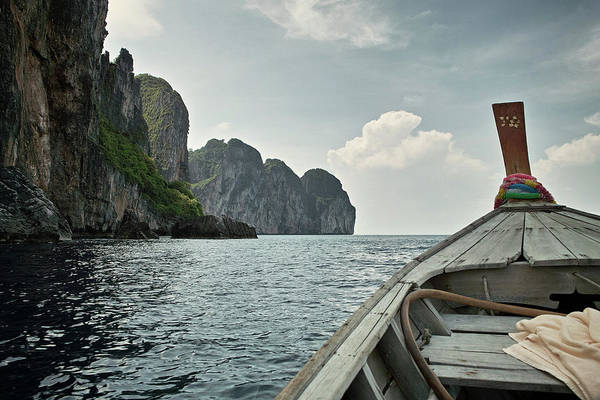 Boat Deck Photograph - Phi Phi Thailand - Long Boat by Judd Christie Photography