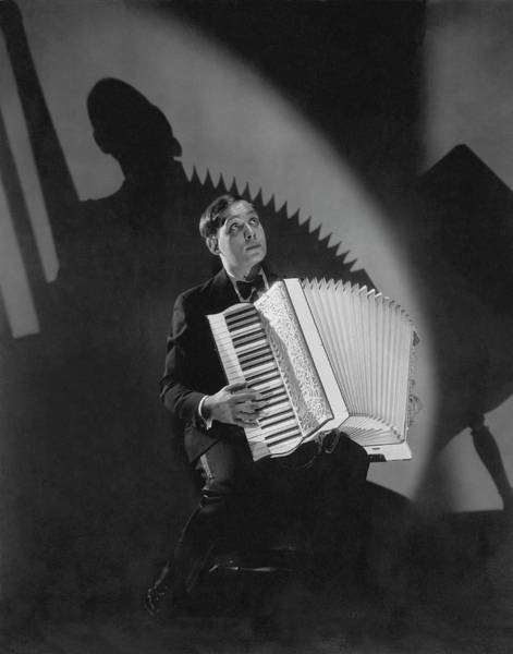 Wall Art - Photograph - Phil Baker With An Accordion by Edward Steichen