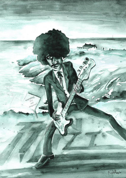 Painting - Phil Lynott In Howth by Miki De Goodaboom