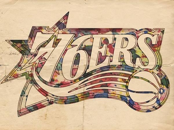 76ers Painting - Philadelphia 76ers Poster Art by Florian Rodarte