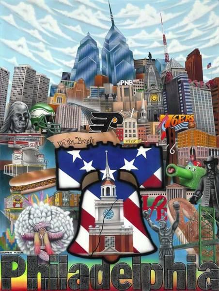 76ers Painting - Philadelphia by Brett Sauce