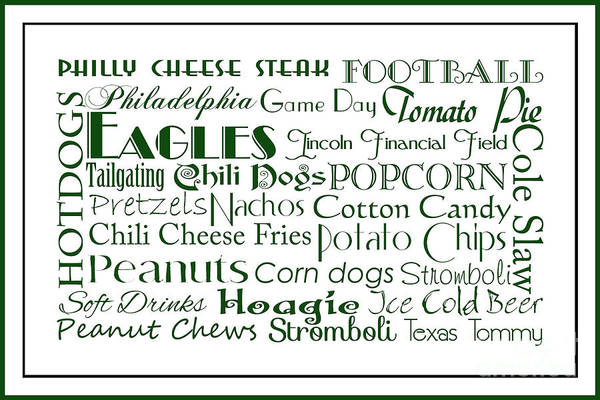 Digital Art - Philadelphia Eagles Game Day Food 3 by Andee Design