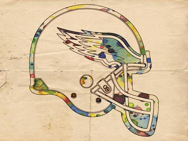 Painting - Philadelphia Eagles Helmet Vintage by Florian Rodarte