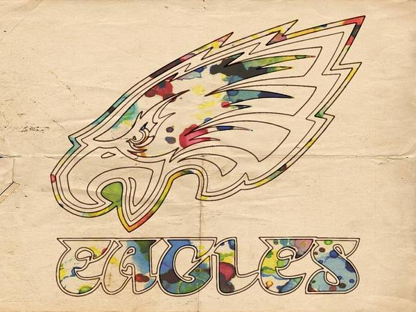 Painting - Philadelphia Eagles Logo Art by Florian Rodarte
