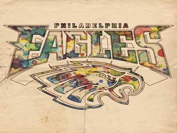 Painting - Philadelphia Eagles Poster Art by Florian Rodarte