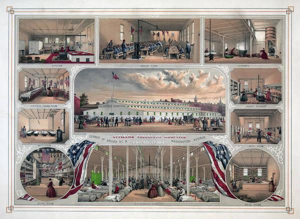Painting - Philadelphia Hospital, 1862 by Granger