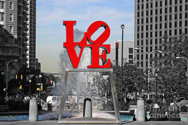 Wall Art - Photograph - Philadelphia Love 2005 by John Rizzuto