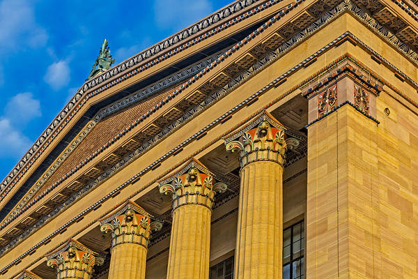 Greek Revival Architecture Photograph - Philadelphia Museum Of Art Columns by Susan Candelario