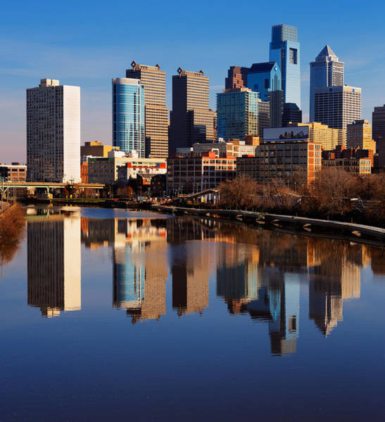 Philadelphia Reflected In The Still Watera Art Print by Sophie James