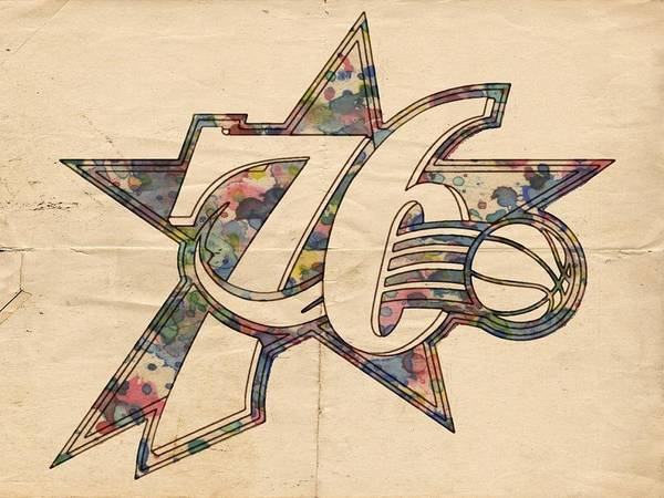 76ers Painting - Philadelphia Sixers Poster Art by Florian Rodarte