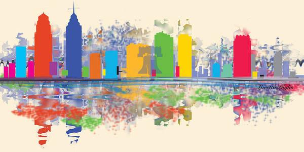 Brotherly Love Digital Art - Philadelphia Skyline by Loretta Luglio