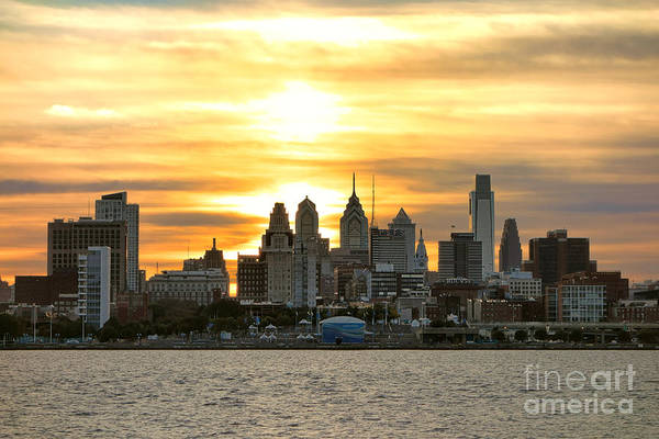 Photograph - Philadelphia Sunset by Olivier Le Queinec