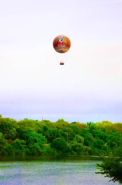 Photograph - Philadelphia Zoo Balloon Over The Schuylkill River by Bill Cannon