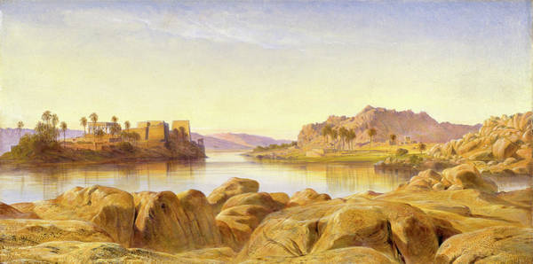 Philae Painting - Philae, Egypt, Edward Lear, 1812-1888 by Litz Collection