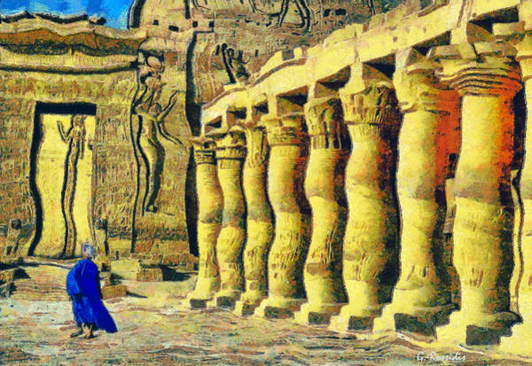 Philae Painting - Philae Temple by George Rossidis