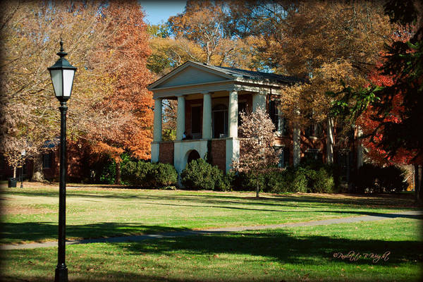 Photograph - Philanthropic Hall - Davidson College by Paulette B Wright