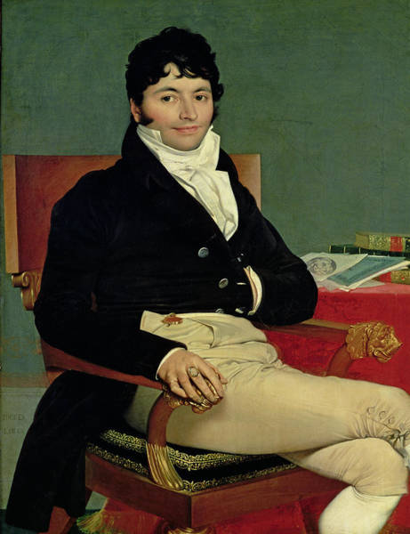 Businessman Photograph - Philibert Riviere 1766-1816 1805 Oil On Canvas by Jean Auguste Dominique Ingres