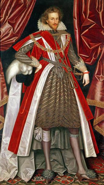 Garter Photograph - Philip Herbert, 4th Earl Of Pembroke, C.1615 by William Larkin