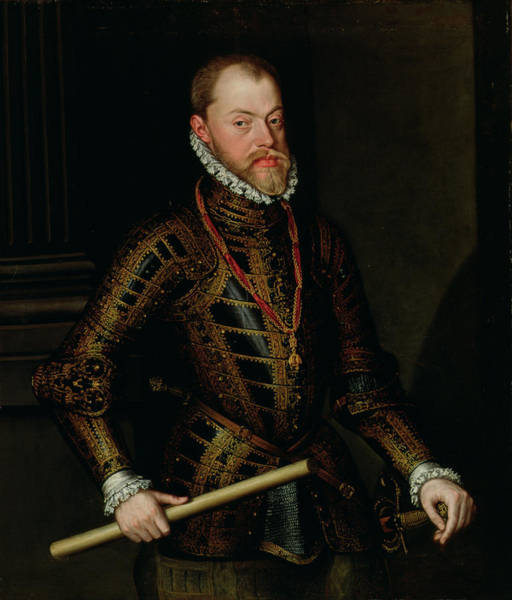 Sword Painting - Philip II Of Spain C.1570 by Alonso Sanchez Coello