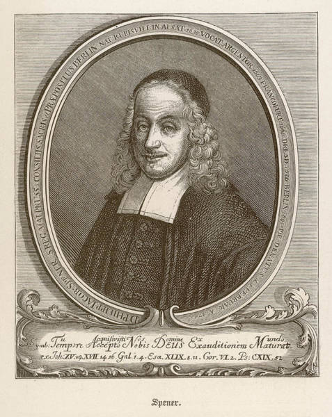 Wall Art - Drawing - Philipp Jacob Spener (1635 - 1705) by Mary Evans Picture Library