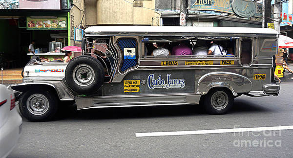 Photograph - Philippine Jeepny Bus by Ron Roberts