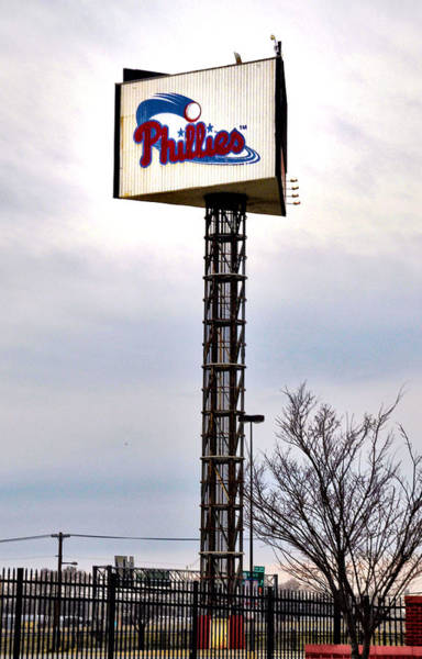 Citizens Bank Park Wall Art - Photograph - Phillies Stadium Sign by Bill Cannon