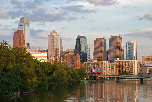 Photograph - Philly Summer Skyline by Jennifer Ancker